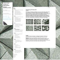 Gramazio & Kohler, Architektur und Digitale Fabrikation