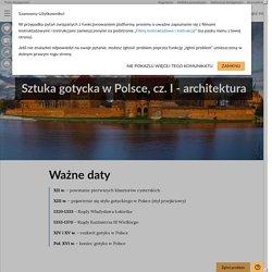 Sztuka gotycka wPolsce, cz. I- architektura - Epodreczniki.pl