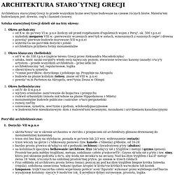 ARCHITEKTURA STARO¯YTNEJ GRECJI