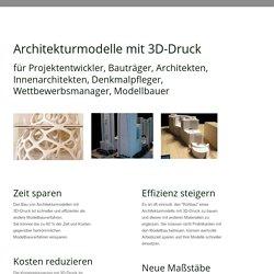 Architekturmodelle mit 3D-Druck - Kubikwerk