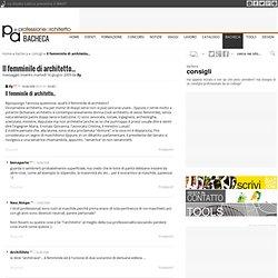 Ingegnere al femminile pearltrees for Consigli architetto