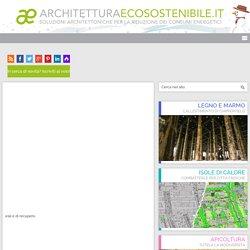 L'architettura dei materiali naturali e di recupero