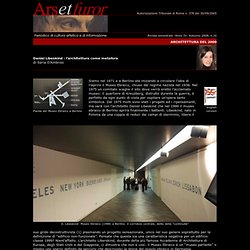 Daniel Libeskind: l'architettura della metafora