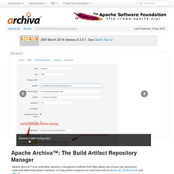 The Build Artifact Repository Manager