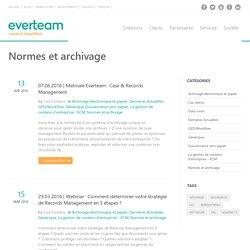 Normes et archivage Archives - everteam/fr