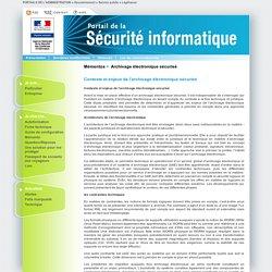 03. Contexte et enjeux de l'archivage électronique sécurisé