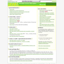 EAD: Encoded Archival Description Version 2002 Official Site (EAD ...