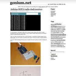 Blog Archive » Arduino DCF77 radio clock receiver