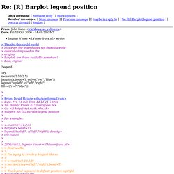 R help archive: Re: [R] Barplot legend position