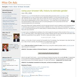 Mike On Ads » Blog Archive » Using your browser URL history t
