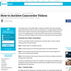How to Archive Camcorder Videos - About Camcorders