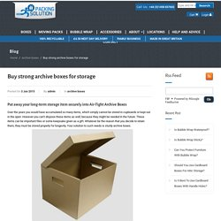 Cardboard Boxes For Moving– Packing Solution