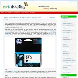 6 Easy Steps to Remove HP 950XL Black Cartridges from Printer