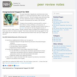 CSR Peer Review Notes » Blog Archive » Congressional Support for NIH