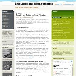 Blog Archive » Débuter sur Twitter en école Primaire