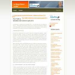 Le Blog d'Henri Audier» Blog Archive » Pour l'UMP, la démolition doit s'achever après 2012