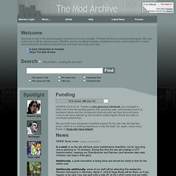 The Mod Archive v4.0a - A distinctive collection of modules