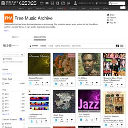 Free Music Archive : Free Audio : Download & Streaming