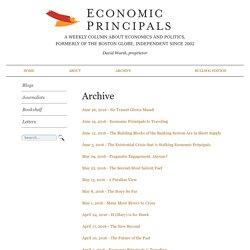Economic Principals