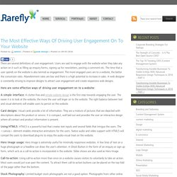 Blog Archive » The Most Effective Ways Of Driving User Engagement On To Your Website