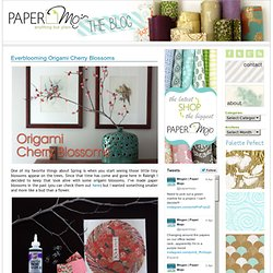Paper Mojo the Blog » Blog Archive » Everblooming Origami Cherry Blossoms