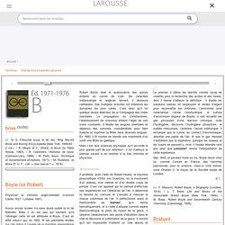 Archive Larousse : Grande Encyclopédie Larousse - Boyle