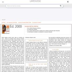 Archive Larousse : Journal de l'année Édition 2000 - dossier - Le journal du cinéma, Lettre de Patrice Leconte à l'ARP