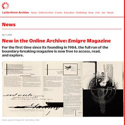 New in the Online Archive: Emigre Magazine – Letterform Archive