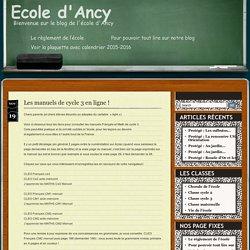 » Blog Archive » Les manuels de cycle 3 en ligne !