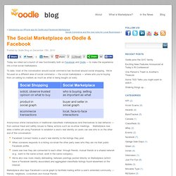 Blog » The Social Marketplace on Oodle & Facebook