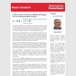 A. Godard > ministre du Budget : suggestions