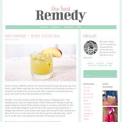 nectarine + mint cocktail