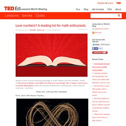 Love numbers? A reading list for math enthusiasts