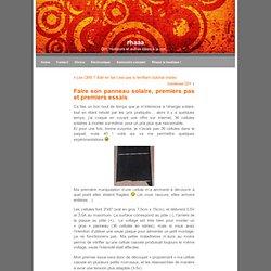 Blog Archive » Faire son panneau solaire, premiers pas et premiers essais