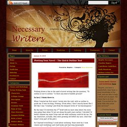 » Blog Archive » Plotting Your Novel – The Quick Outline Tool