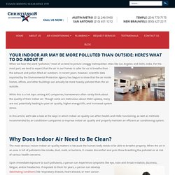 Your Indoor Air May Be More Polluted Than Outside: Here's What to Do About It