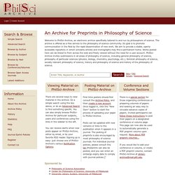 Welcome to PhilSci-Archive - PhilSci-Archive