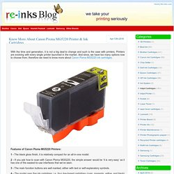 Re Inks Blog » Blog Archive » Know More About Canon Pixma MG5220 Printer & Ink Cartridges