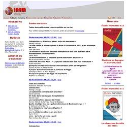 Archive de la revue Études marxistes