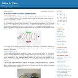 A Sensitive DIY Ultrasonic Range Sensor