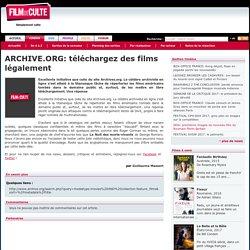ARCHIVE.ORG: téléchargez des films légalement