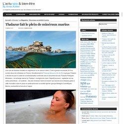 L'Actu spa & bien-Etre » Blog Archive » Thalazur fait le plein de minéraux marins