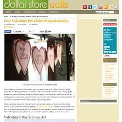 Free Valentine Printables Mega-Roundup