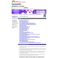 The Standards Site: ICT at key stages 1 and 2