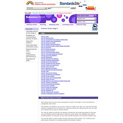 The Standards Site: Science at key stage 3