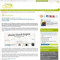 ArchivePDF, un moteur de recherche d'E-Books au format PDF