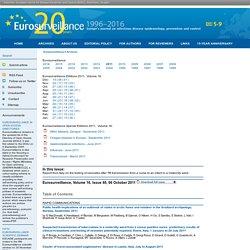 Eurosurveillance, Volume 16, Issue 40, 06 October 2011 Au sommaire: Trends in yearly prevalence of third-generation cephalospori