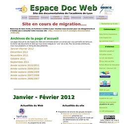 Arcvhives de la page d'accueil - Espace Doc Web - Académie de Lyon