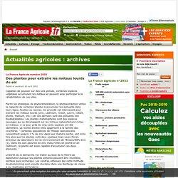 Archives de La France Agricole - agriculture et actualité agricole