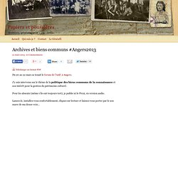Archives et biens communs #Angers2013